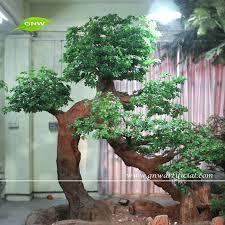 btr024 gnw home decorative big artificial live ficus tree bonsai