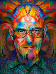 this trippy heisenberg giclée print by nicky barkla is printed on
