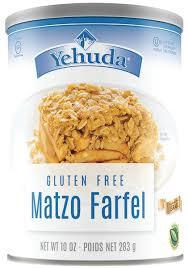 matzah farfel yehuda gluten free matzo farfel 10 ounce cannister
