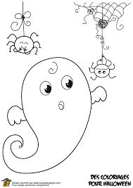 coloriage fantome rigolo et araignees sur hugolescargot com