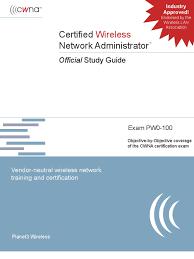 ebook pdf cwna certified wireless network administrator