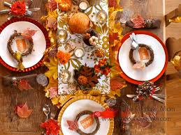 Thanksgiving Dinner Table by Celebrate Dailybuzz Moms 9x9 November Challenge Rustic
