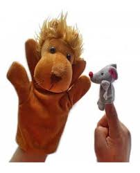lion puppet lion and mouse story telling and finger puppets at rs