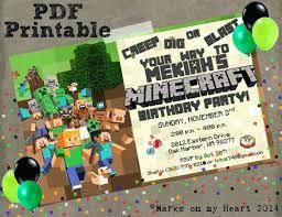 free printable birthday invitations minecraft minecraft printable invitations bonvoyagegifts info