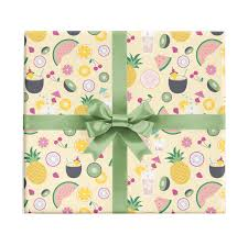 tropical wrapping paper tropical drinks gift wrap by revel co revel co