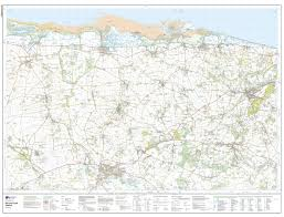 Norfolk County Wall Map Framed Explorer 101 Isles Of Scilly