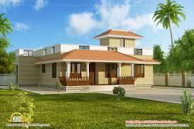 kerala home design flat roof elevation single story house plans india