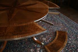 Large Round Dining Room Tables Large Round Mahogany Dining Table W Leaves Perimeter Round