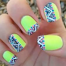 neon green nail designs how to nail designs
