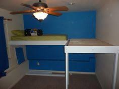 Free Plans For Dorm Loft Bed by Diy Loft Bed Plan Wall Mounted Small Spaces Pinterest Loft