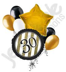 30th birthday balloon bouquets black gold 30th birthday balloon bouquet jeckaroonie balloons