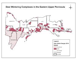 Upper Peninsula Map Som Dnr Seeks Private Landowners To Help Improve Deer Wintering