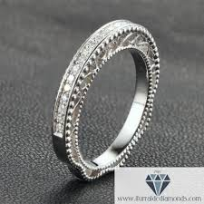 milgrain wedding band antique style milgrain motif diamond pave wedding band