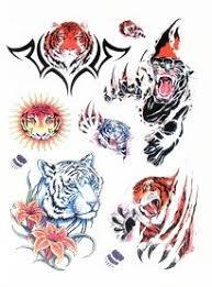 amazon com bt0071 colorful sun tiger paw temporary tattoos