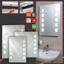 Demisting Bathroom Mirrors Heated Bathroom Mirror With Light Lighting Demister Lights Shaver