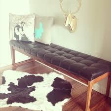 gerald easden sleigh legs ottoman bench seat retro vintage mid