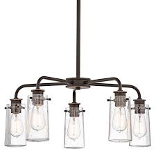 kichler track lighting kichler 43058oz olde bronze braelyn 5 light 25
