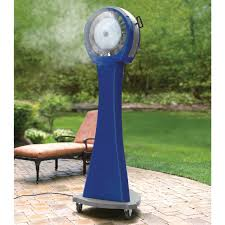 outdoor misting fan lowes shop allen roth in speed oscillation fan at lowes com patio misters