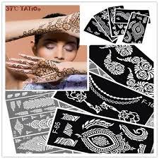 aliexpress com buy 12pcs henna tattoo stencil for glitter tattoo