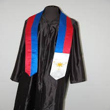 Filipino Flag Colors Philippines Sash Graduation Sashes
