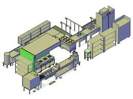Autocad For Kitchen Design by 3d Cad Drawing Of A Commercial Kitchen Design Cadblocksfree Cad