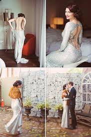 silver wedding dresses beautiful coloured wedding dresses for the bold chic