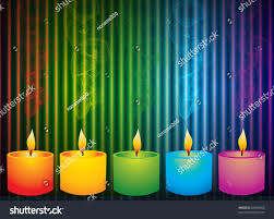 colorful candles birthday other celebrations stock vector 62648956