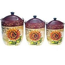tuscan style kitchen canisters tuscan fruit handpainted canister set by lillian vernon 69 99