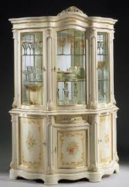white 3 door china cabinet made in italy
