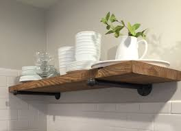 Pipe Shelves Kitchen by 10 Depth Rustic Industrial Floating Shelf Industrial
