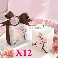 candle wedding favor cherry blossom candle with gift box for wedding party wedding