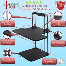 Standing Desk For Desktop Amazon Com Standing Desk Hub Sit Stand Desk Converter Adjustable