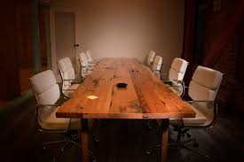 reclaimed wood conference table recycled wood table by urban beaver