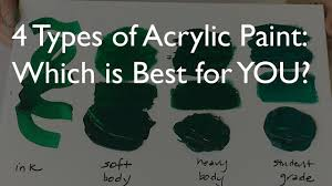 4 types of acrylic paint which is best for you youtube
