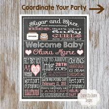 sugar and spice baby shower chalkboard sign mommy to be