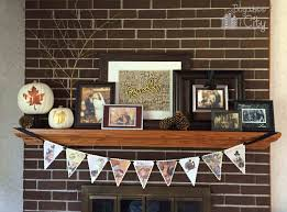 family themed thanksgiving mantle bugaboocity
