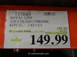 costco kitchen faucet sinks and faucets gallery royal line touchless chrome kitchen faucet costco 1