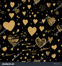 holiday seamless background hearts greeting card stock vector