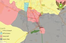 Isis Syria Map by Breaking Hasakah Syria 10 July 2015 New Updated Situation