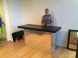 Standing Reception Desk by The Diamond 6 U0027 U Shaped Diamond Tread Plate Metal Indoor