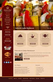 indian menu template indian food html template on behance