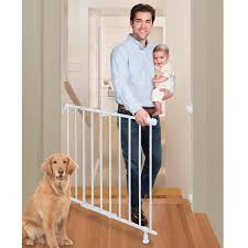 Child Proof Gates For Stairs Amazon Com Summer Infant Top Of Stairs Simple To Secure Metal