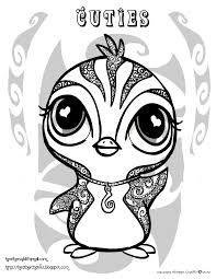 heather chavez penguin coloring page