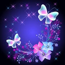 beautiful butterflies with flowers vector background 03 vector