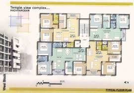 floor plan temple view complex fair properties kolkata