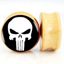 punisher skull ear plugs and gauges plugsi want