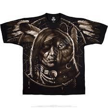 american west dream spirit black t shirt tee liquid blue
