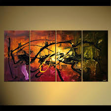 home decoration painting painting home decor abstract painting multi panel 4717