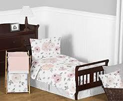Blush Pink Comforter Amazon Com Sweet Jojo Designs 5 Piece Blush Pink Grey And White