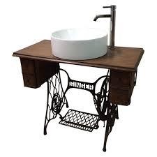 Antique Singer Sewing Machine Table Singer Sewing Table Converted Bathroom Sink Vanity Sinks